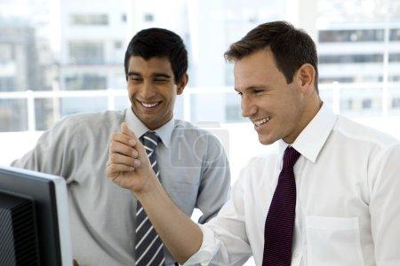 Smiling business partnership