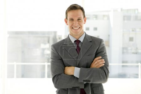 Single young businessman