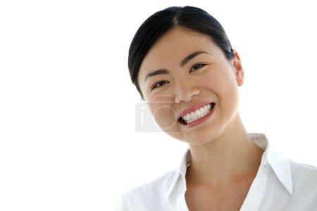 Happy Asian American woman