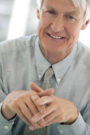 Close-up portrait of a senior businessman