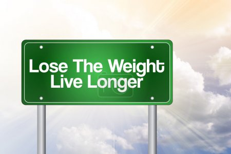 Photo for Lose The Weight Live Longer Green Road Sign - Royalty Free Image
