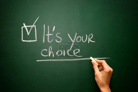 It's your choice on blackboar