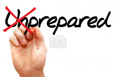 Turning the word Unprepared into Prepared, busines...