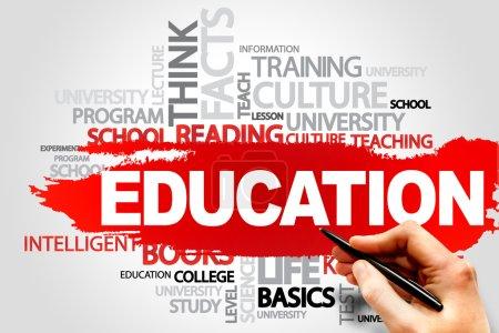 Photo pour EDUCATION concept nuage mot - image libre de droit
