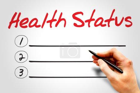 Photo pour Concept de liste blanche de l'état de santé - image libre de droit