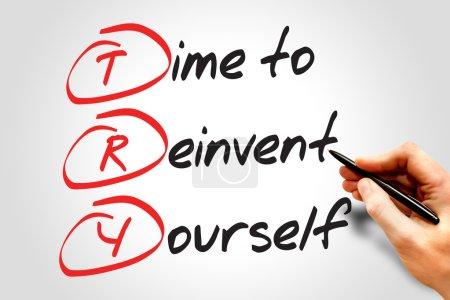 Foto de Tiempo para reinventarte (TRY), acrónimo de concepto de negocio - Imagen libre de derechos