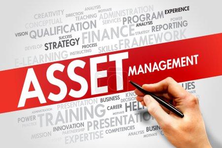 Photo pour Nuage de mot Asset Management, concept d'entreprise - image libre de droit