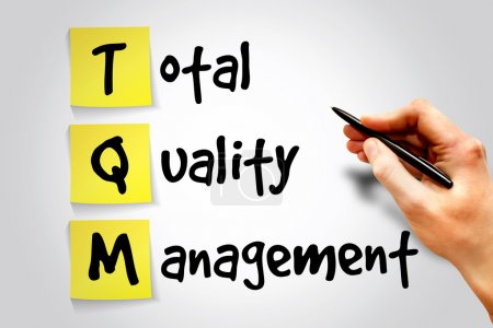 Photo for Total Quality Management (TQM) sticky note, business concept acronym - Royalty Free Image