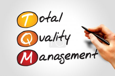 Photo for Total Quality Management (TQM), business concept acronym - Royalty Free Image