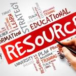 RESOURCES word cloud, education concept...