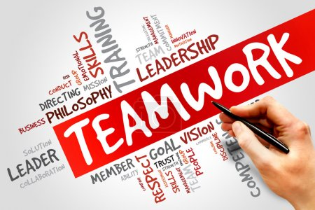 Photo for TEAMWORK word cloud, business concept - Royalty Free Image