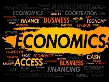 Photo for ECONOMICS word cloud, business concept - Royalty Free Image