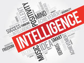Intelligence word cloud business concept