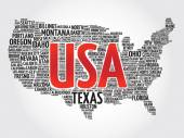 USA megjelenítése szó felhő