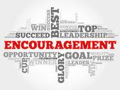 Encouragement word cloud
