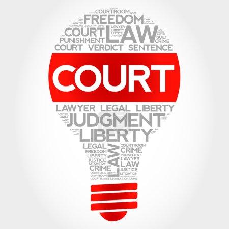 Court bulb word cloud