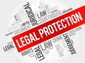 Legal Protection word cloud concept
