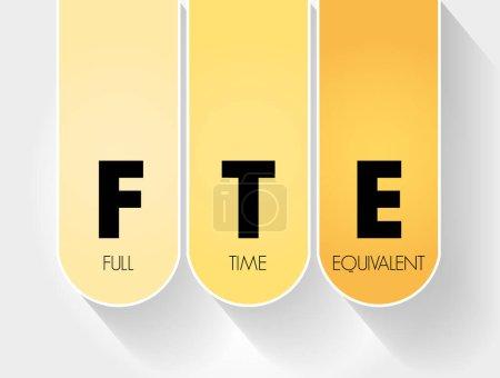 Illustration pour ETP - Équivalent temps plein, contexte du concept d'entreprise - image libre de droit