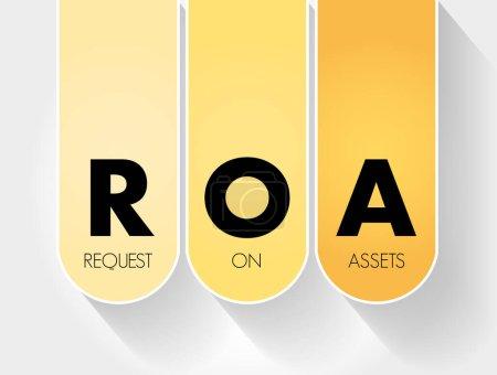 Illustration pour RCA - Rendement de l'actif acronyme, contexte du concept d'entreprise - image libre de droit