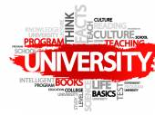 UNIVERSITY Word business collage vector background