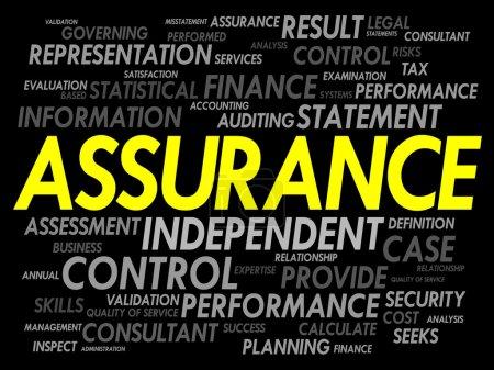 Illustration pour Nuage de mot assurance, concept d'entreprise - image libre de droit