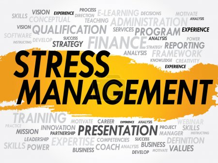 Illustration for Word cloud of Stress Management related items, business concept - Royalty Free Image