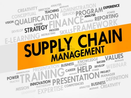 Illustration for Supply Chain Management word cloud, business concept - Royalty Free Image