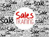 Sales Training word cloud background