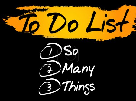So Many Things in To Do List