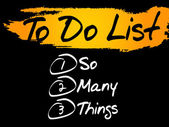 So Many Things in To Do List vector concept background