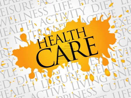 Illustration for Health care word cloud, health concept - Royalty Free Image