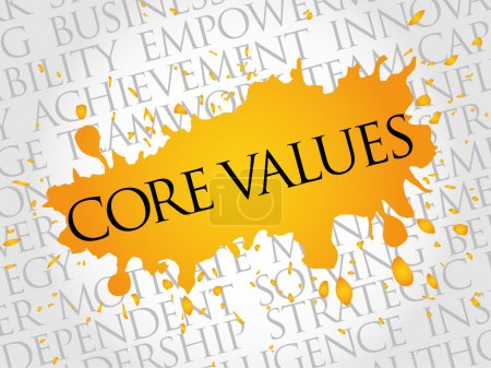Illustration for Core values word cloud, business concept - Royalty Free Image