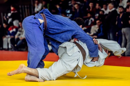 fighters judokas in competition judo