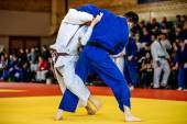 battle of two fighters judo