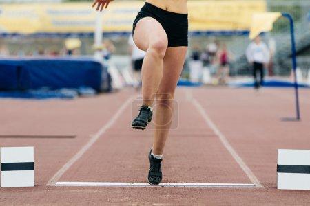 girl athlete of long jump