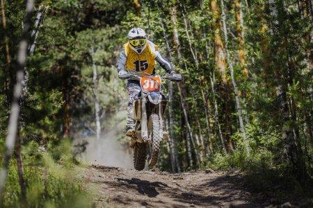 athlete motorcyclist riding