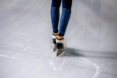 Feet of a woman skater