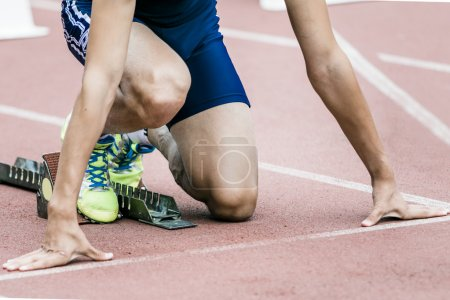 Photo for Sprinter getting ready to start - Royalty Free Image