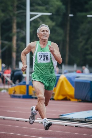 Old man ran 100 meters