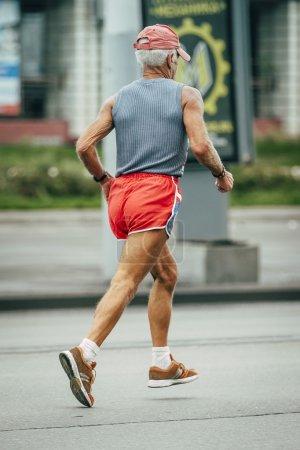 old man runs marathon
