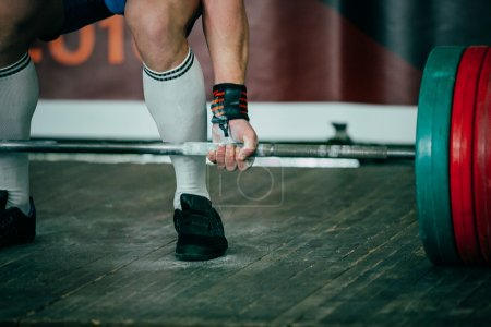 Photo for Athlete of powerlifter squat competition deadlift - Royalty Free Image