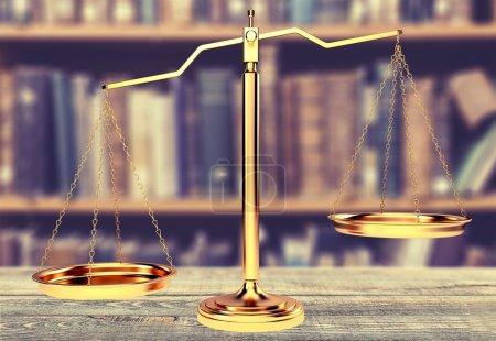 Photo pour Balance de Justice sur la table, Balance, Balance . - image libre de droit
