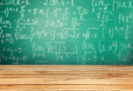 Maths formulas written by  chalk