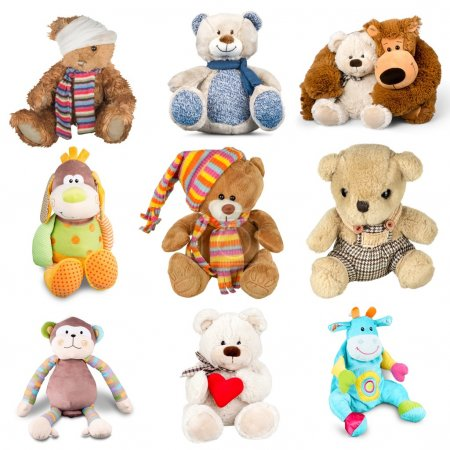 Cute Teddy bear and toys