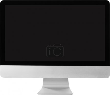 Modern monitor on white