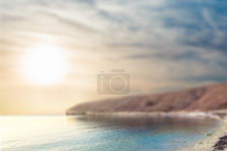 Blurred sea viev