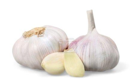 Photo for Garlic isolated on white background - Royalty Free Image