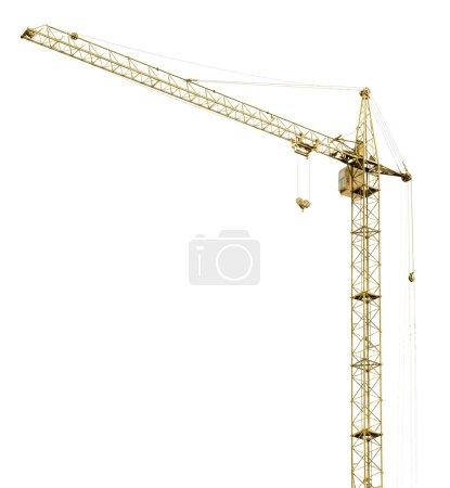 Building crane on white