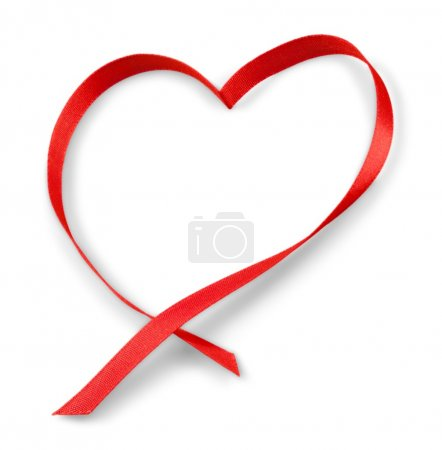 Heart from a ribbon