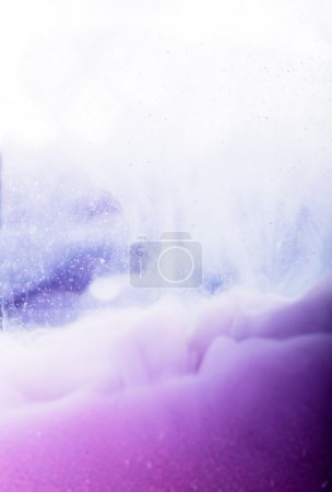 Photo for Purple acrylic color in water on white background - Royalty Free Image